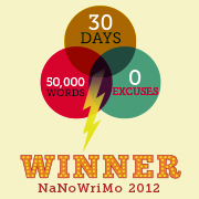 I Did It...I Won NaNoWriMo 2012