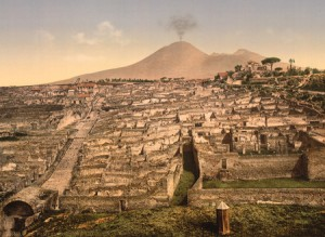 Ruins of Pompeii and Vesuvius