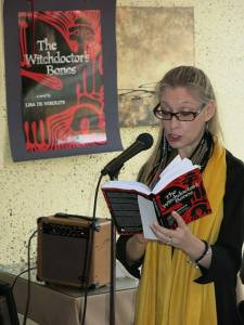 Lisa with Witchdoctor book