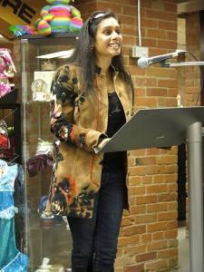 Natasha reading Audreys 20Aug