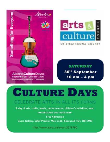 Culture Days 2017 poster