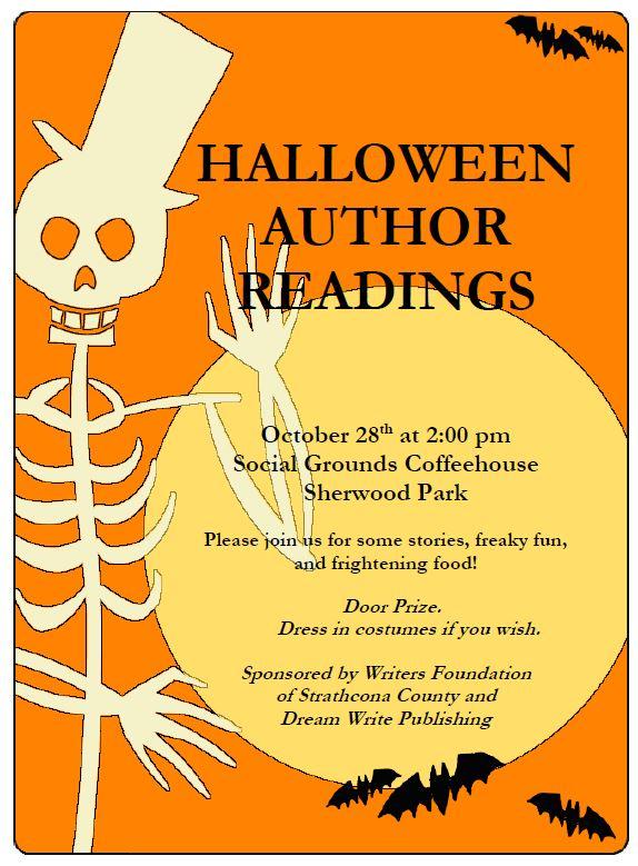 Halloween Author Reading Oct 28