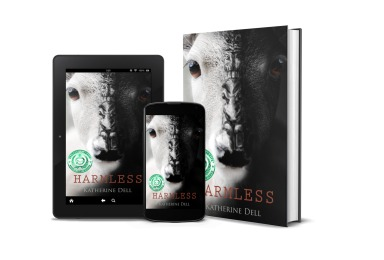 Harmless book, ebook , and phone with green seal