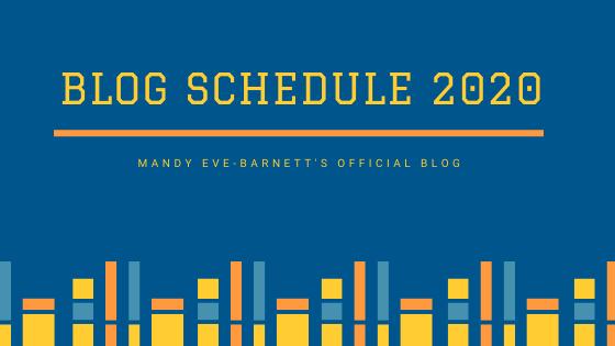 Blog schedule 2020