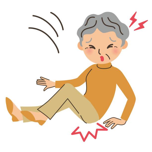 Illustration of grandma hitting ass